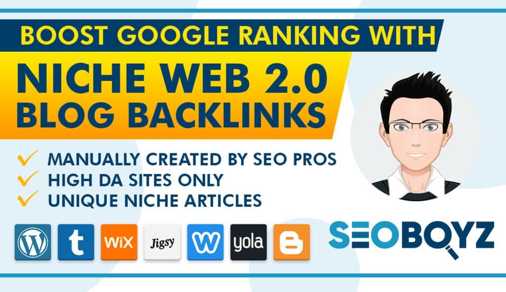 20 High Quality Niche Web 2.0 Blog Backlinks