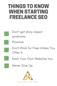 Things to know before starting freelance SEO