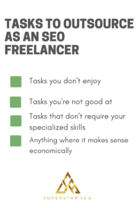 Tasks to outsource as an SEO freelancer