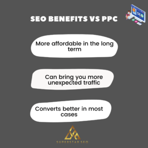 SEO benefits compared to ppc
